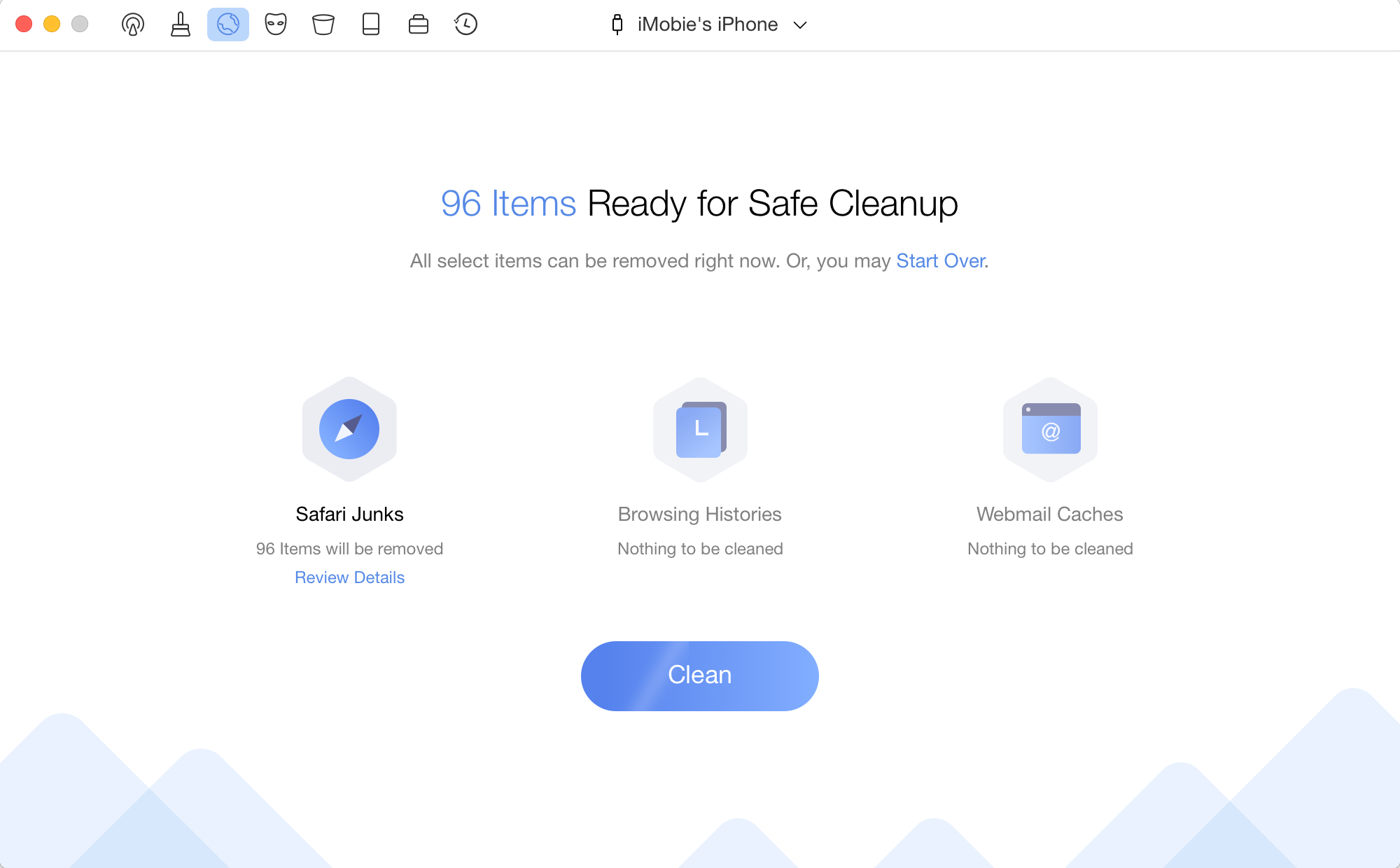 PhoneClean for Mac full screenshot