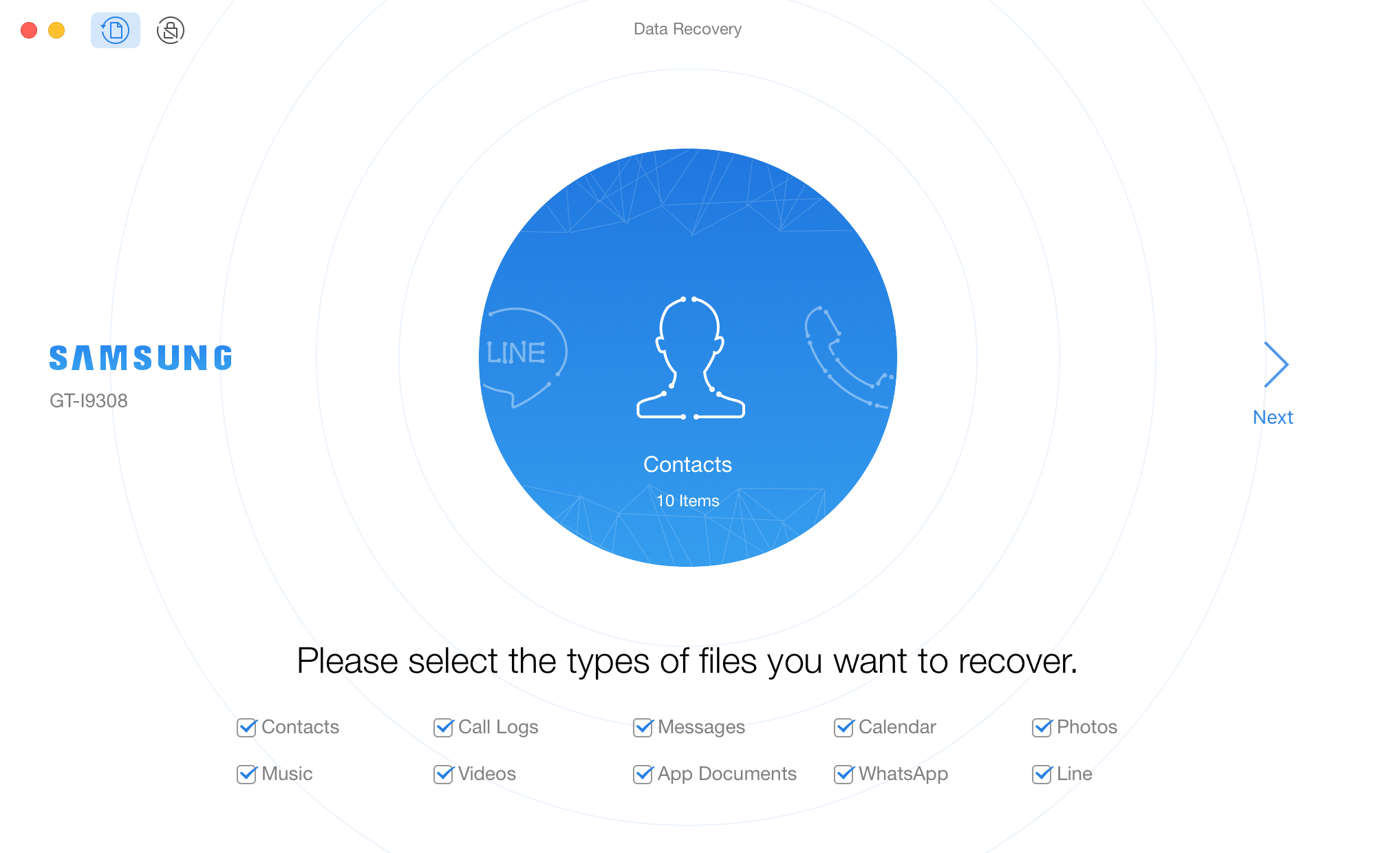PhoneRescue for Android for Mac full screenshot