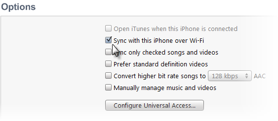 Sync iPhone, iPad, iTouch over Wi-Fi