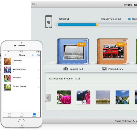 Manage iPhone iPad Photos and Albums