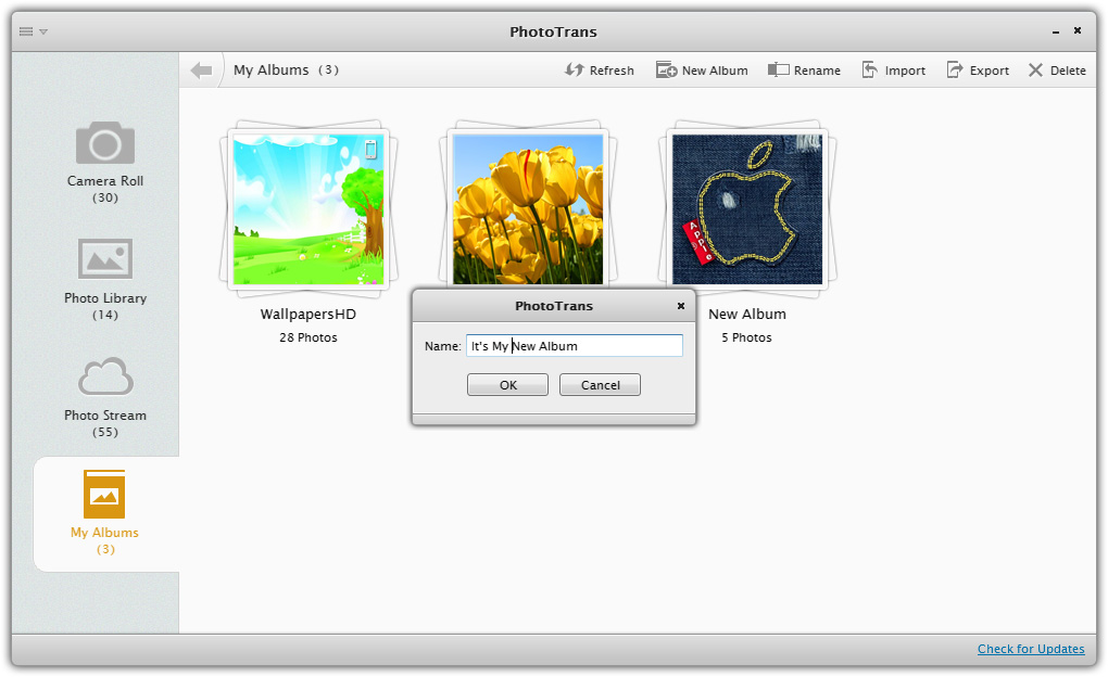how to delete photo library from iphone 5 without itunes