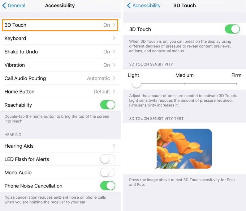 How to Adjust 3D Touch Sensitivity