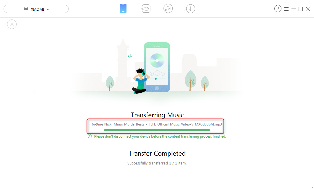 How to Transfer FEFE MP3 from Computer to Android – Step 2