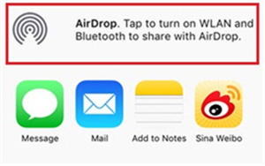 How to AirDrop Contacts from iPhone to iPhone - Step 5