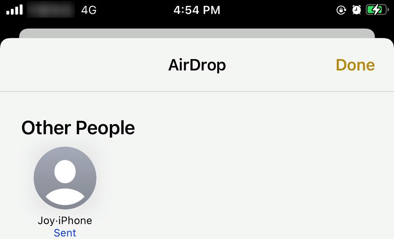 Accept AirDrop