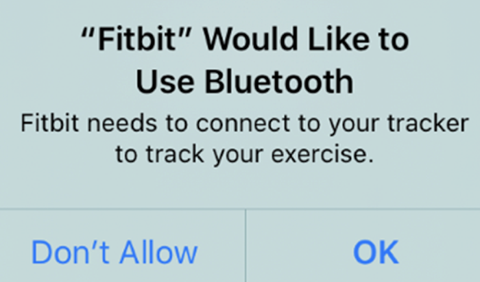 Accept the Bluetooth Permission Prompt