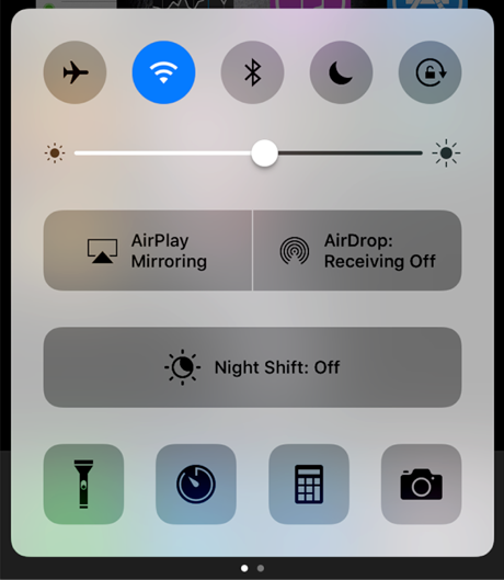 Access the AirPlay feature on iPhone