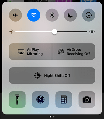 Access the AirPlay option on the iPhone