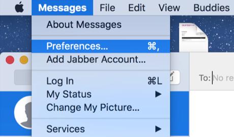 Access iMessage Settings on Mac