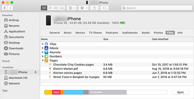 Access iPhone Files with Finder on Mac