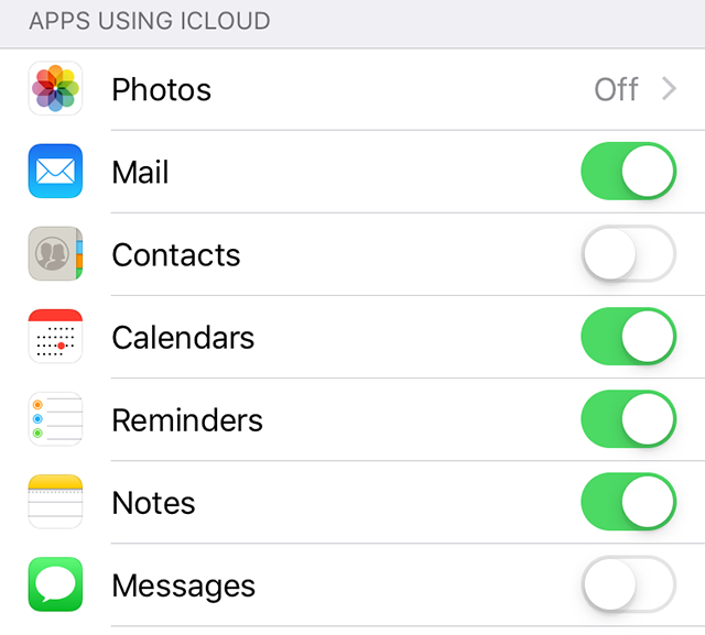 Sync Other iPhone Content with iCloud