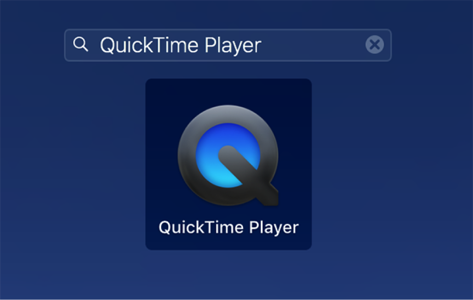 Access QuickTime Player on the Mac