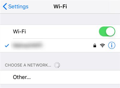 Access the WiFi Settings