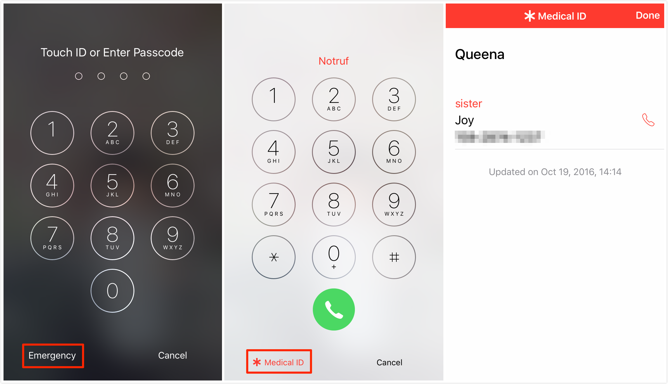 lock screen iphone how to set emergency contacts on iphone 2300