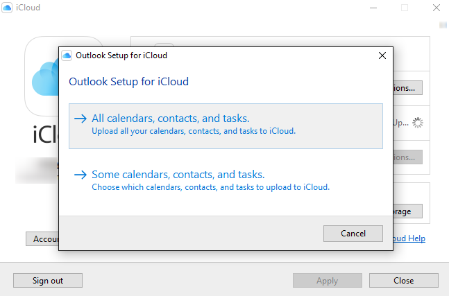How to Add iCloud Calendar to Outlook 2007/2013/2016 - Step 3