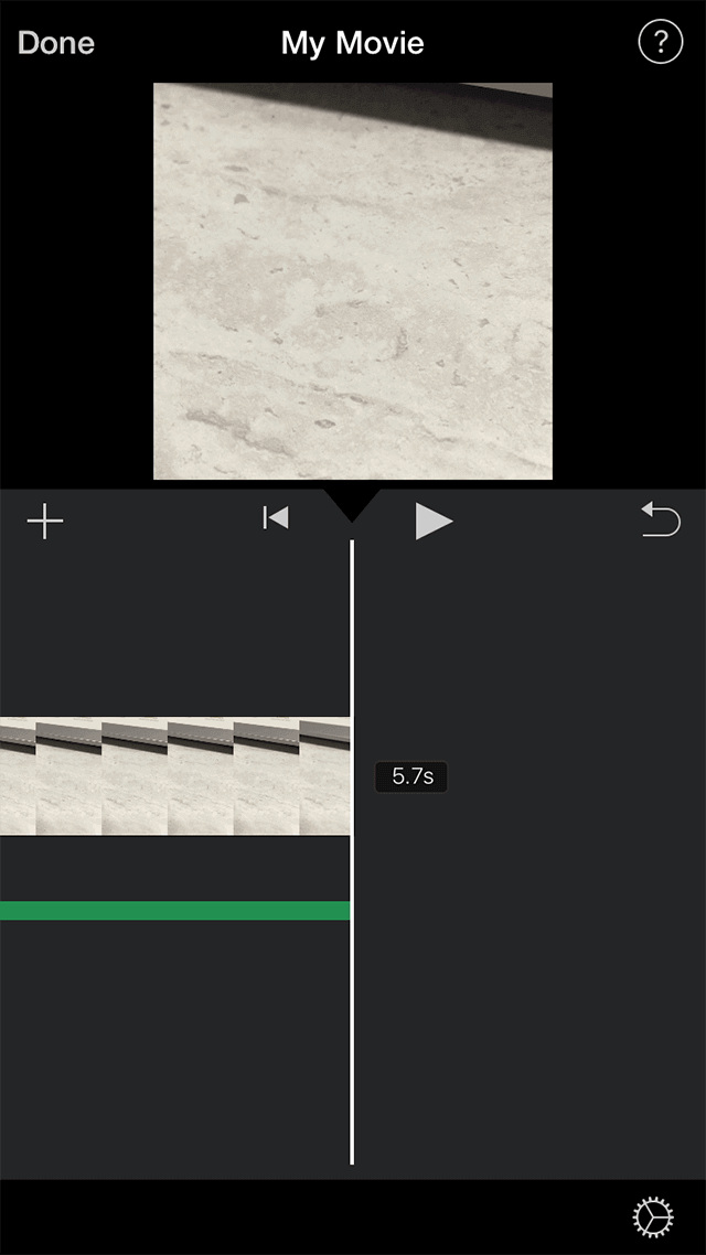 Save the edited video in iMovie