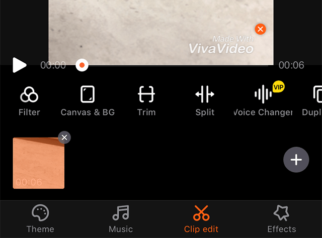 Music option in VivaVideo