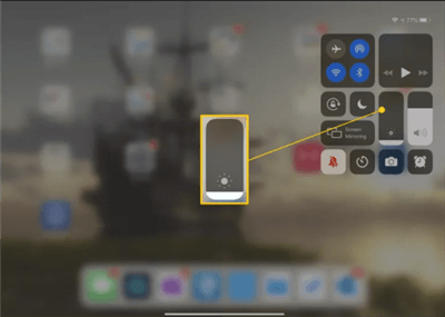 Brighten the iPad Screen