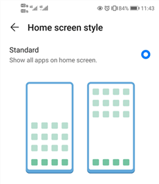 Adjust the Home Screen StyleAdjust the Home Screen Style