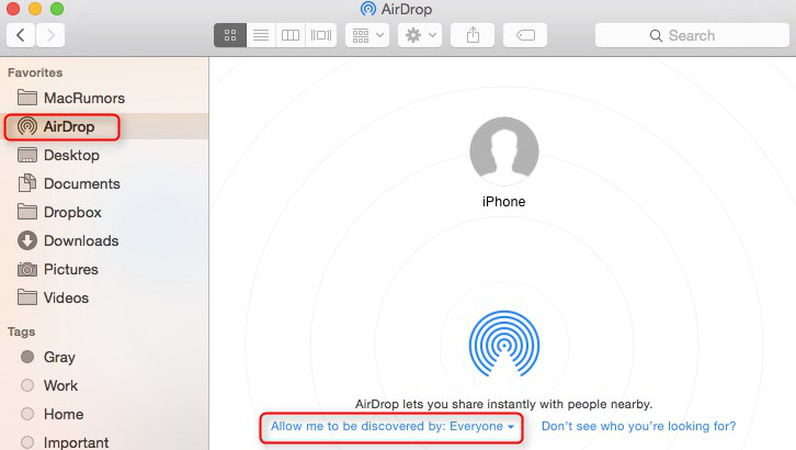 How to AirDrop iPhone to Mac - Turn on AirDrop on Mac