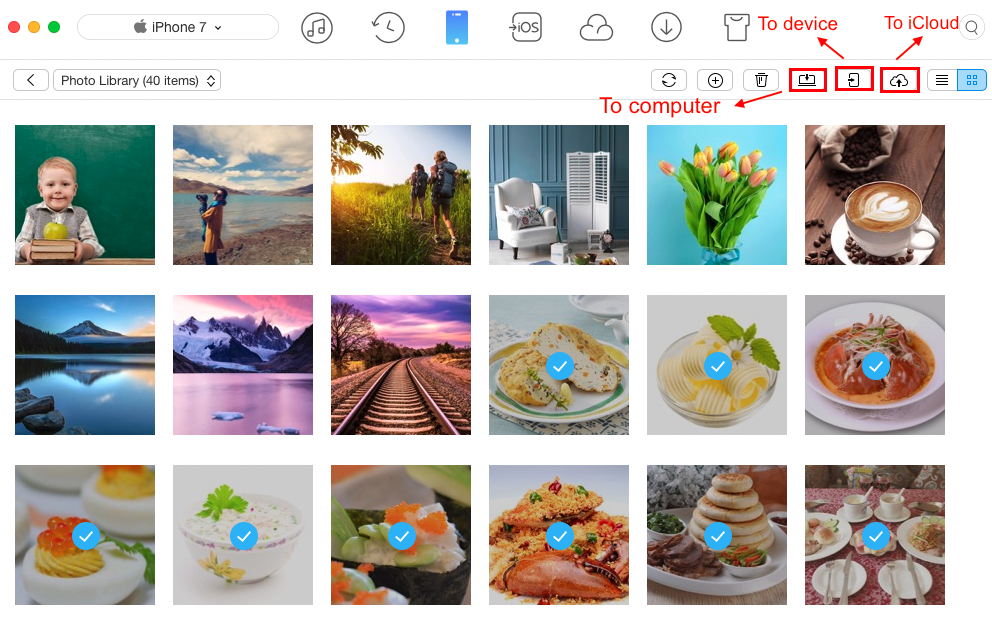 How to AirDrop Photos from iPhone to Mac via Airdrop Alternative - Step 3