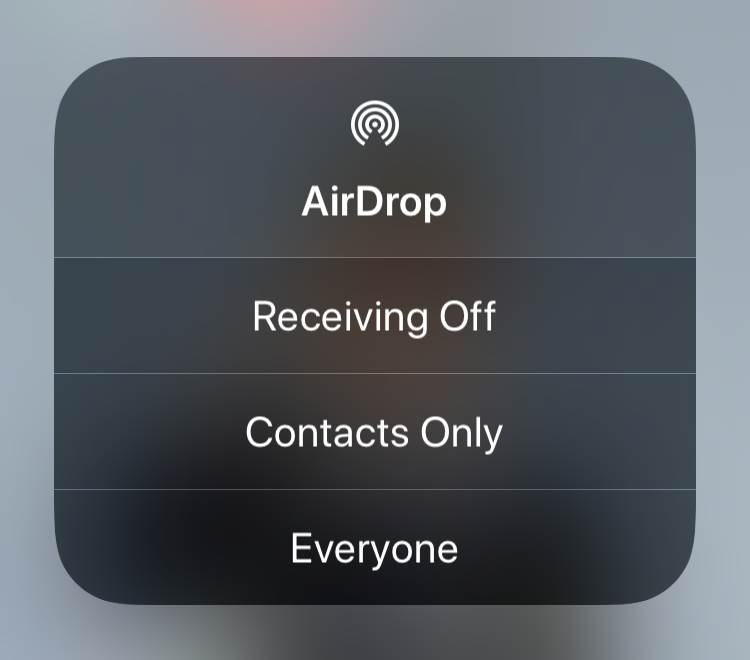 iOS 11 AirDrop Not Working