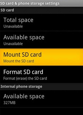 Android App Not Installed Fix - Mount SD Card