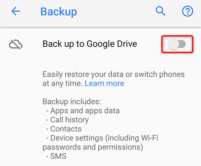 How to Make Android Backup and Restore to New Phone with Google Account - Step 2