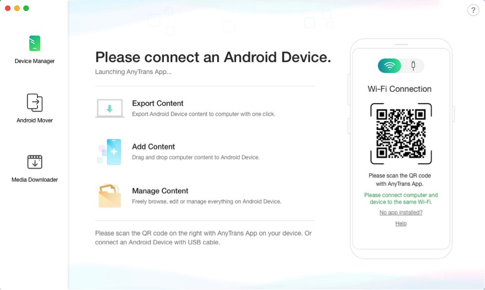 Best Android backup app #1 – AnyTrans for Android