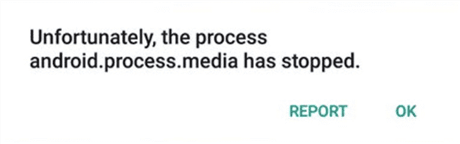 Android Process Media Has Stopped
