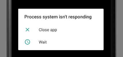 Phone Says Process System Isn't Responding