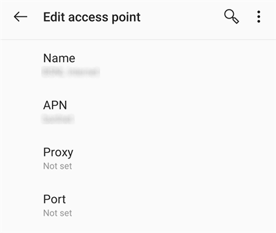 Update Android APN Settings