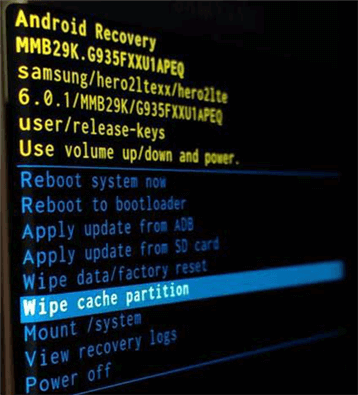 Wipe out the Cache Partition