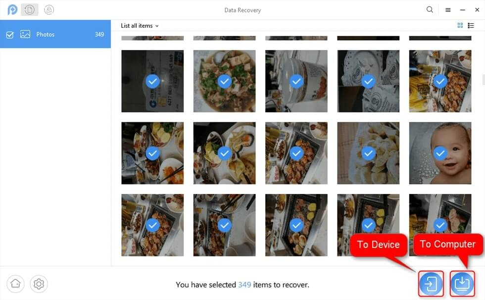 Photos Disappeared from Android Phone – Step 2