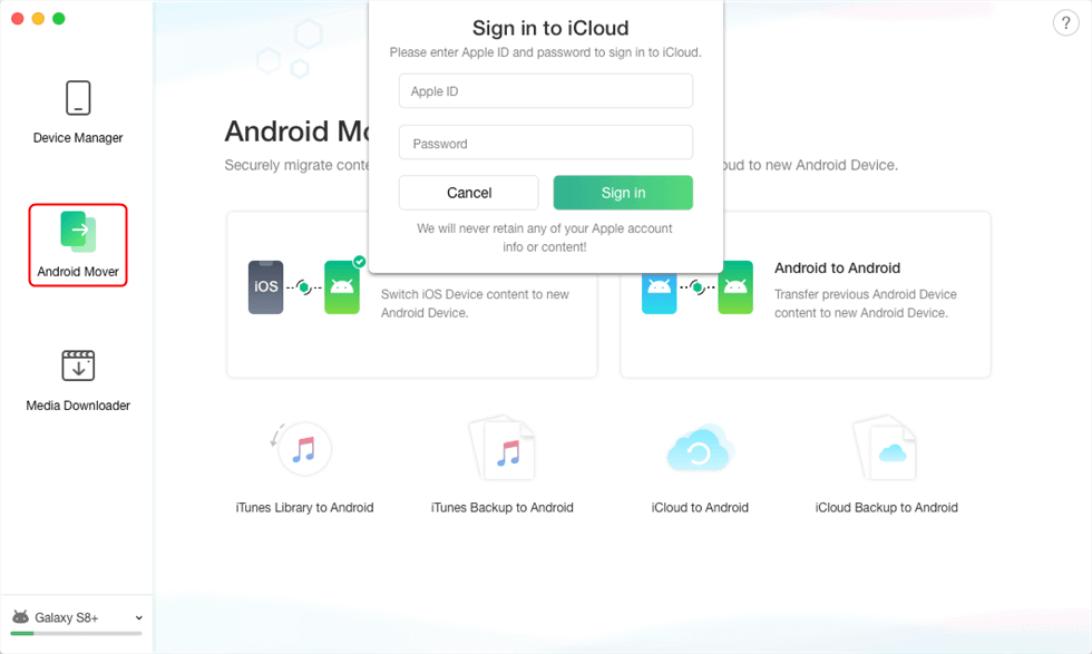 Sign in Your iCloud Account