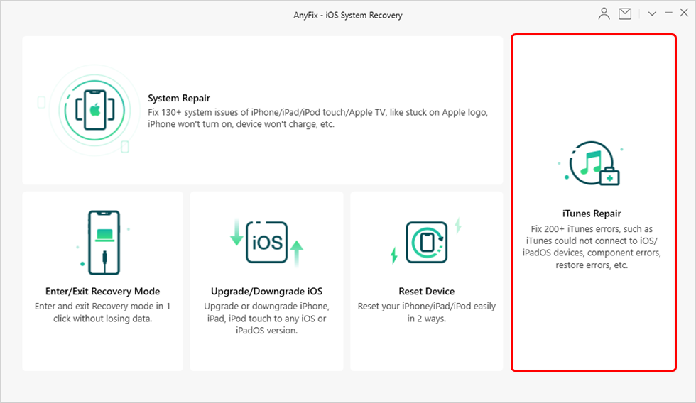 Repair iTunes with AnyFix