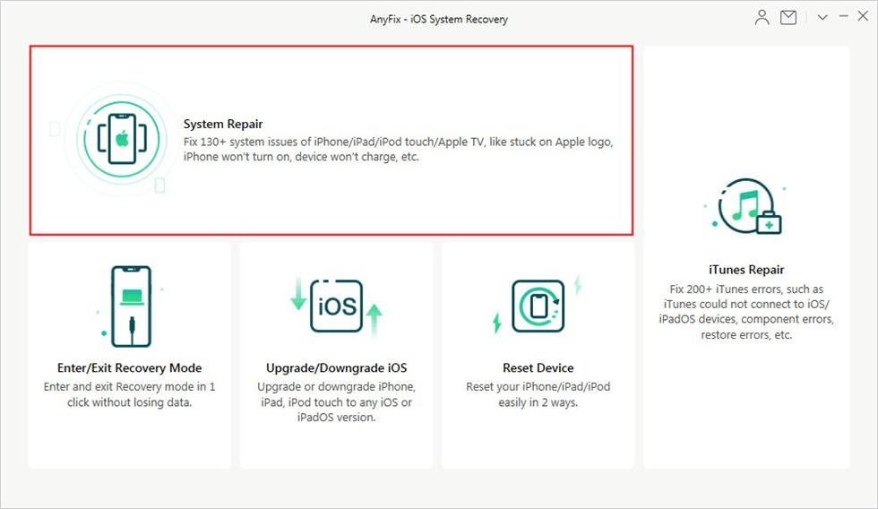 Cliquez sur System Repair