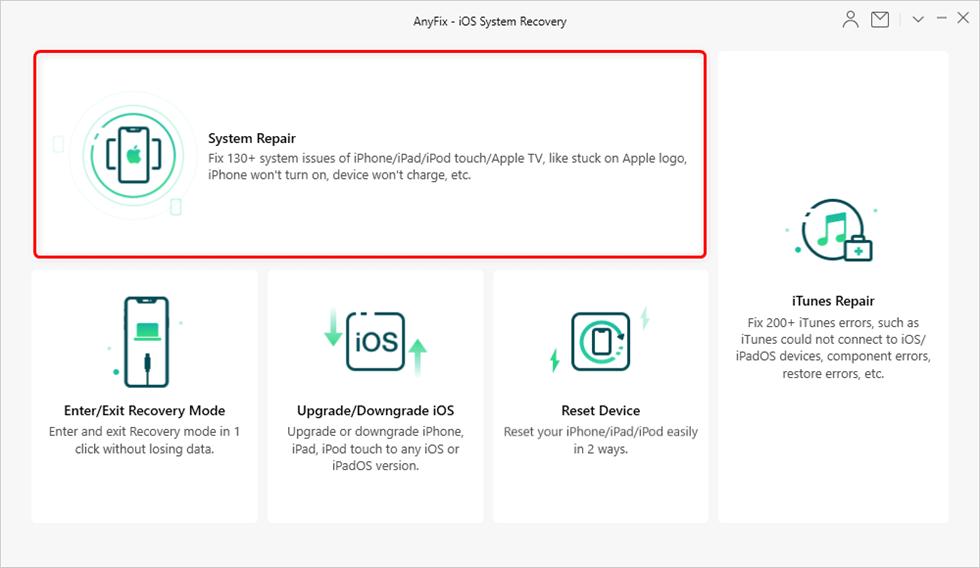 Tap on System Repair