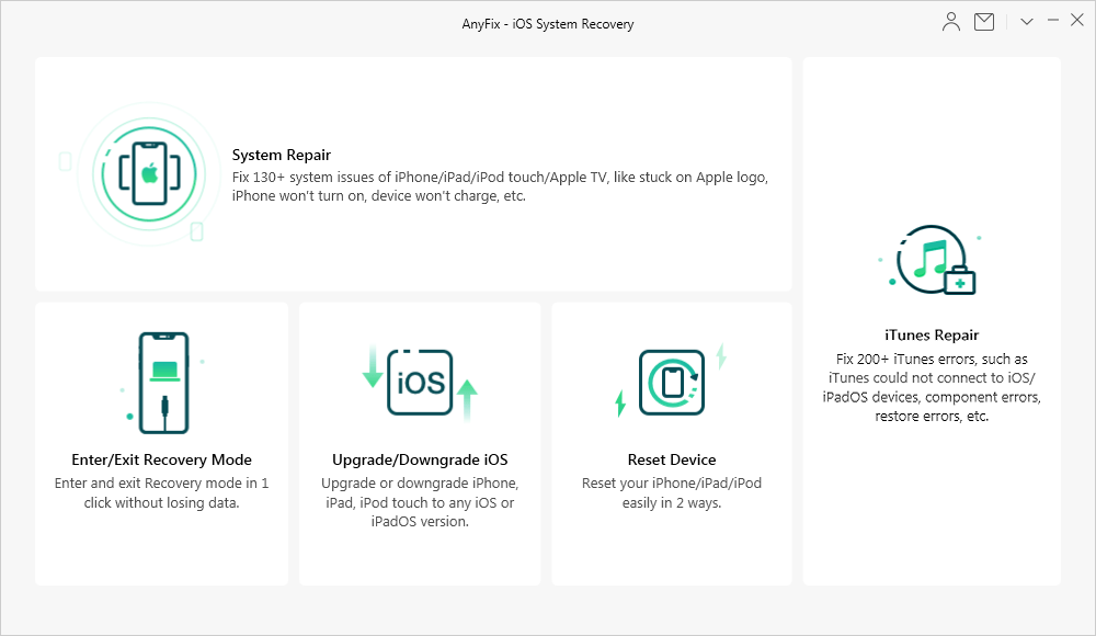 AnyFix - iOS System Recovery and iTunes Repair