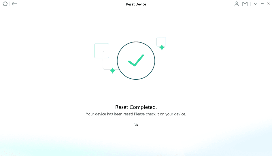 Reset Completed Page