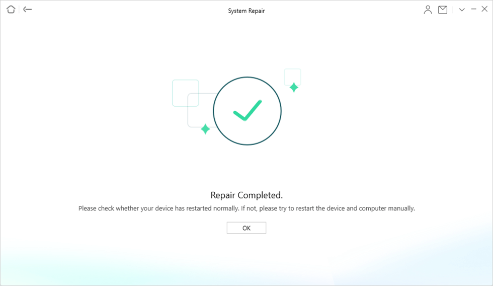 System Repair Completed