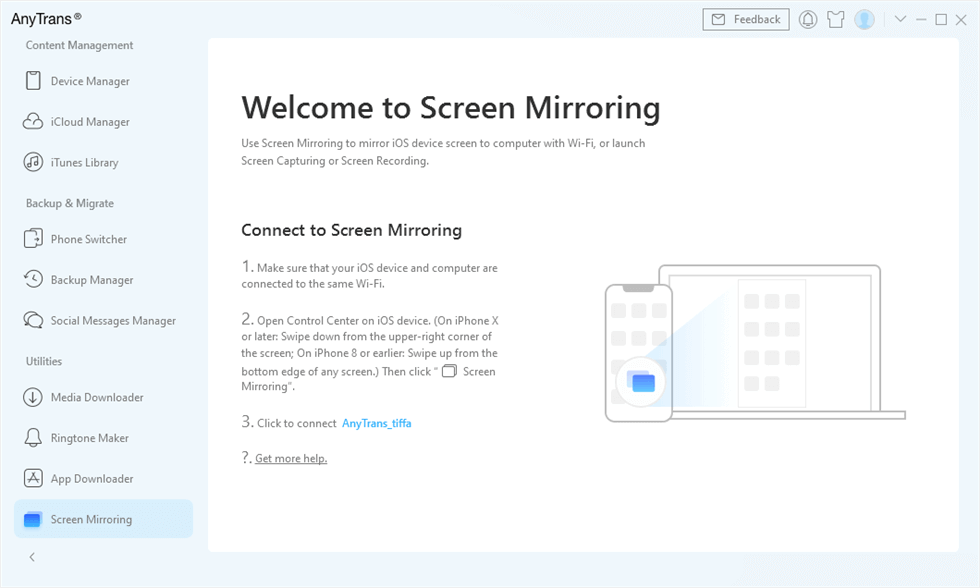 Screen Mirroring with AnyTrans
