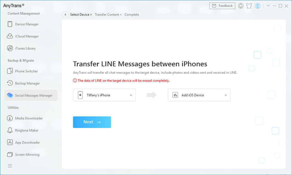 How to Transfer Line to New iPhone – Step 2
