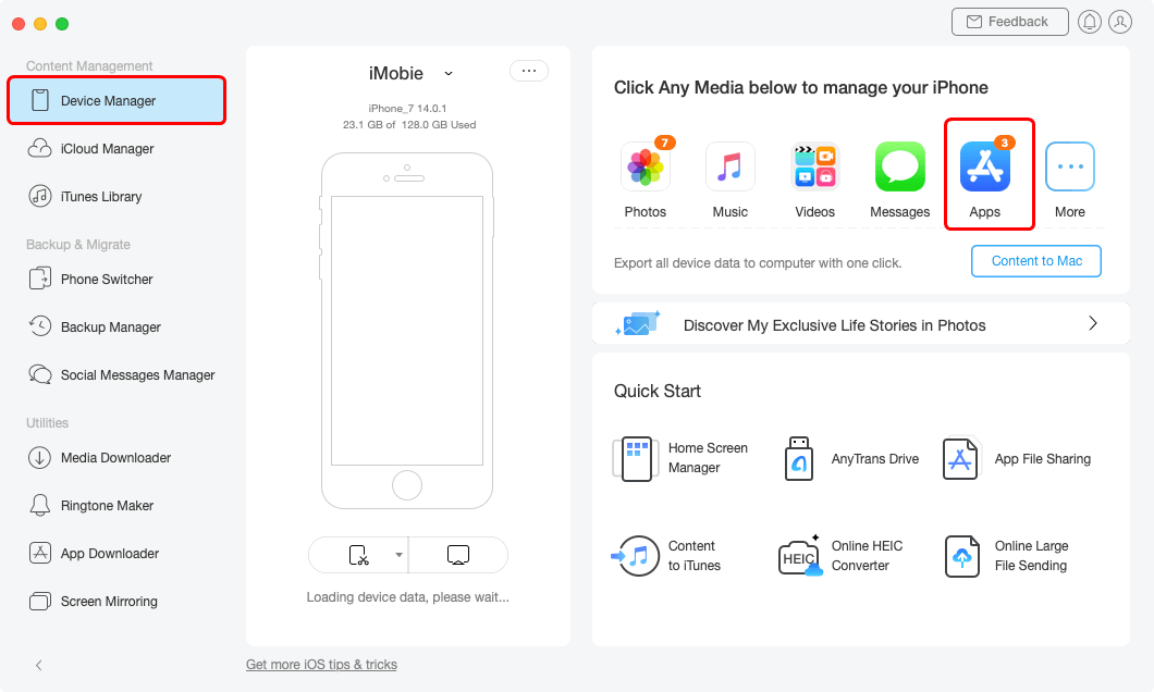 Click Apps Category