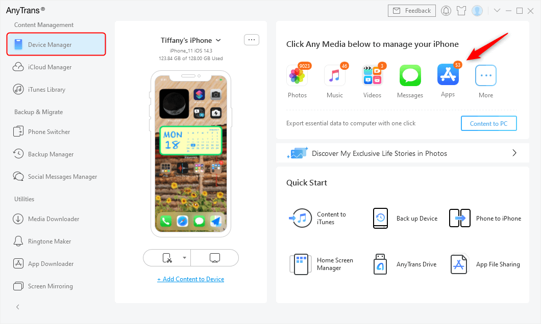 Go to Device Manager and Click Apps Category