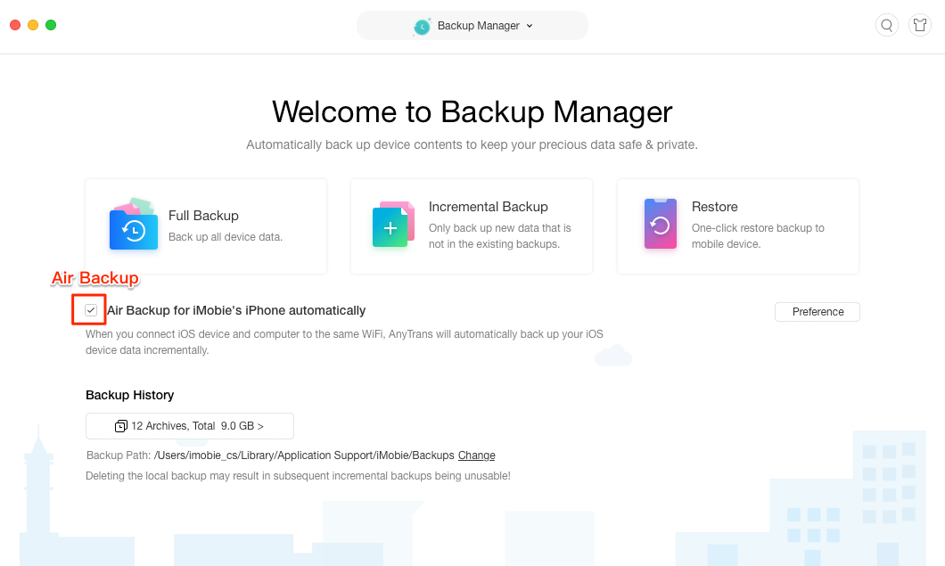 Backup iPhone/iPad/iPod Data with AnyTrans