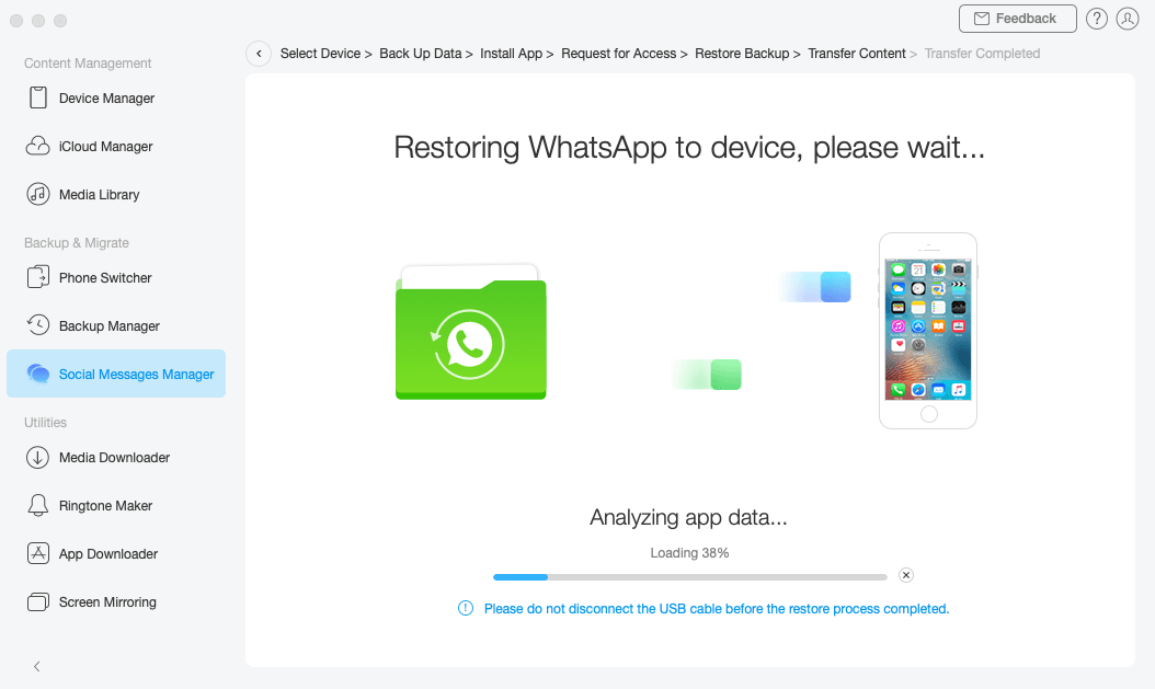 Transferring WhatsApp to iPhone