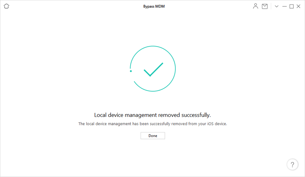 Local Device Management Remove Successfully