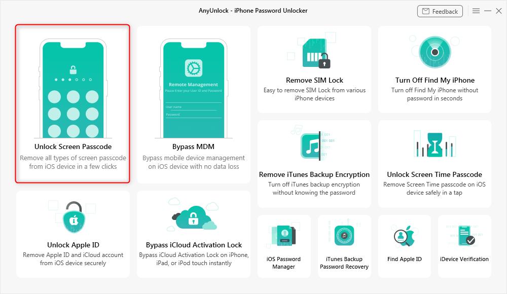 Choose Unlock Screen Passcode