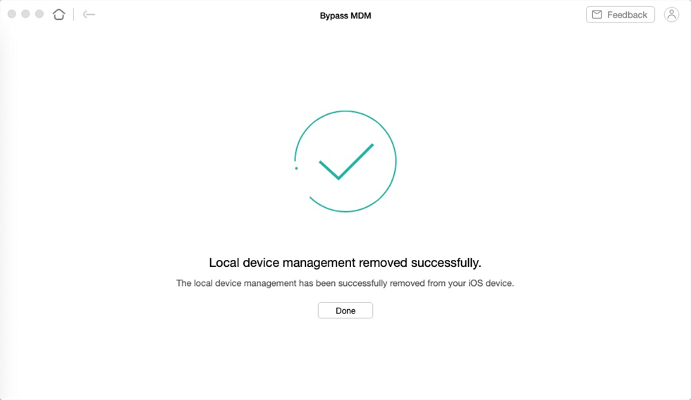 Local Device Management Removed Successfully